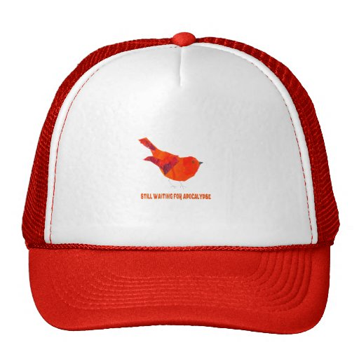Pájaro rojo lindo gorros bordados