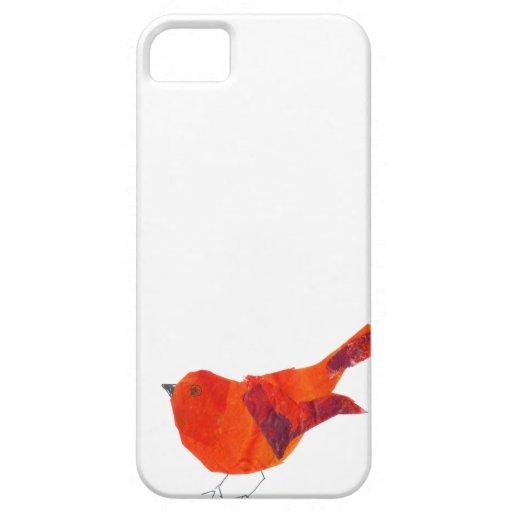 Pájaro rojo lindo iPhone 5 carcasas