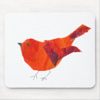 Pájaro rojo lindo mouse pad