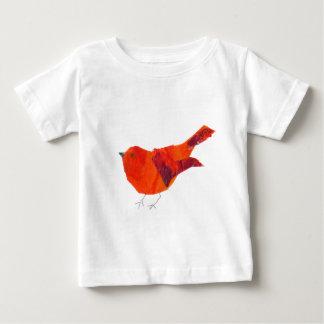 Pájaro rojo lindo playera