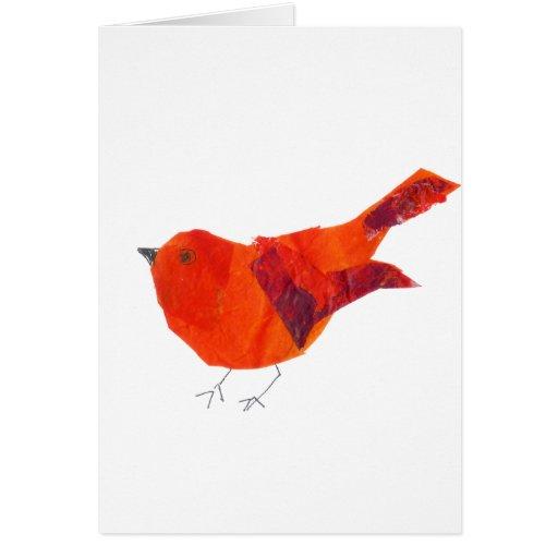 Pájaro rojo lindo tarjeta de felicitación