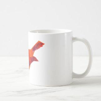 Pájaro rojo lindo taza de café