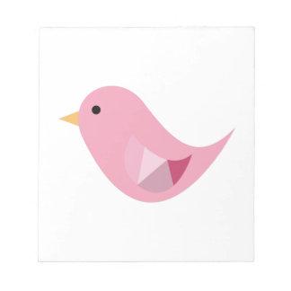 Pájaro rosado libreta para notas