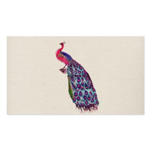 Pájaro rosado femenino brillante del trullo del tarjetas de visita