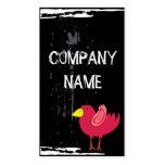 Pájaro rosado fresco plantilla de tarjeta de negocio