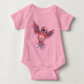 Pájaro rosado polera