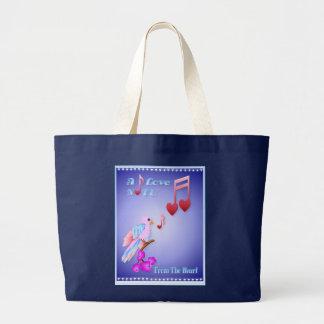 Pájaro rosado y bolsos Nota-indicados con letras d Bolsas De Mano