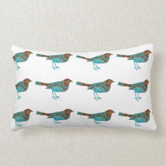 Pájaro rústico de la turquesa cojin