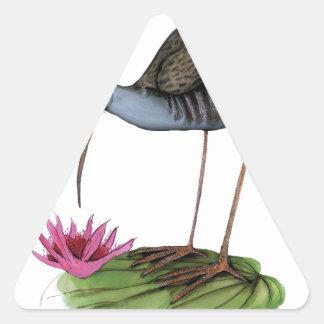 pájaro salvaje del carril del agua colcomanias triangulo personalizadas