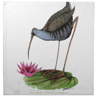 pájaro salvaje del carril del agua servilletas