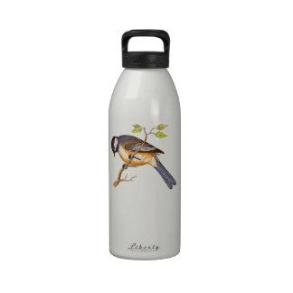 Pájaro siberiano dulce botallas de agua