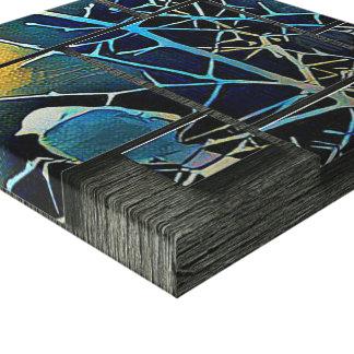 Pájaro silueteado del humedal impresión en lienzo
