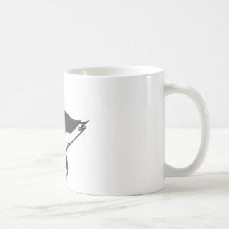 Pájaro sonriente del albatros en blanco y negro tazas de café