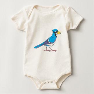 Pájaro sonriente del arrendajo azul mamelucos de bebé