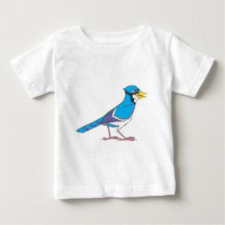 Pájaro sonriente del arrendajo azul poleras