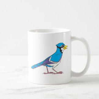 Pájaro sonriente del arrendajo azul tazas