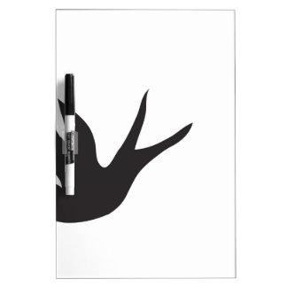 Pájaro Tablero Blanco