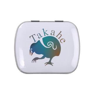Pájaro TAKAHE de Nueva Zelanda Frascos De Caramelos