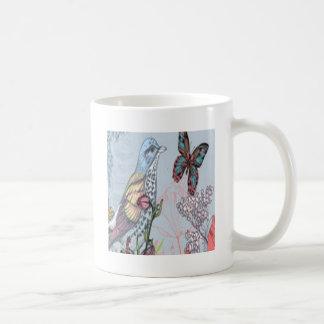 pájaro taza de café