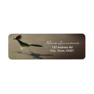 Pájaro temprano, etiqueta del remite etiquetas de remite