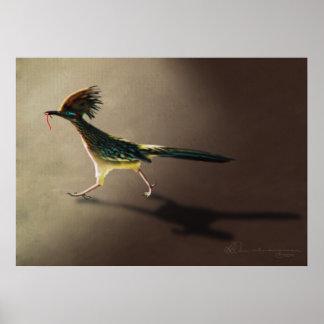 Pájaro temprano, impresión póster