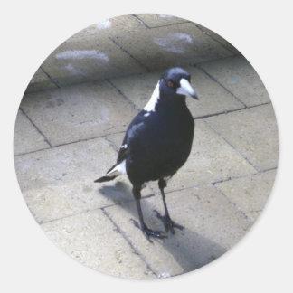 Pájaro temprano pegatina redonda