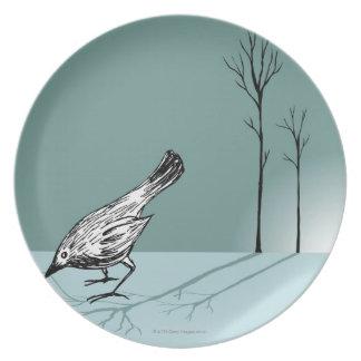 Pájaro temprano plato para fiesta