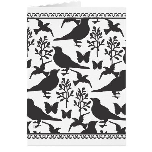 pájaro toile tarjeta de felicitación
