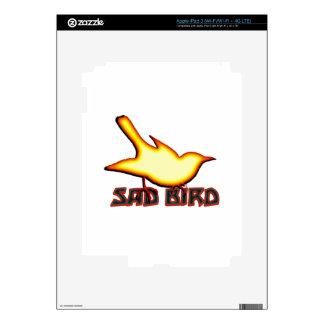 Pájaro triste pegatinas skins para iPad 3
