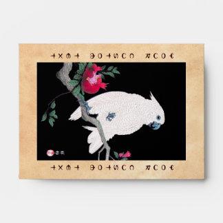Pájaro tropical blanco japonés fresco del loro de
