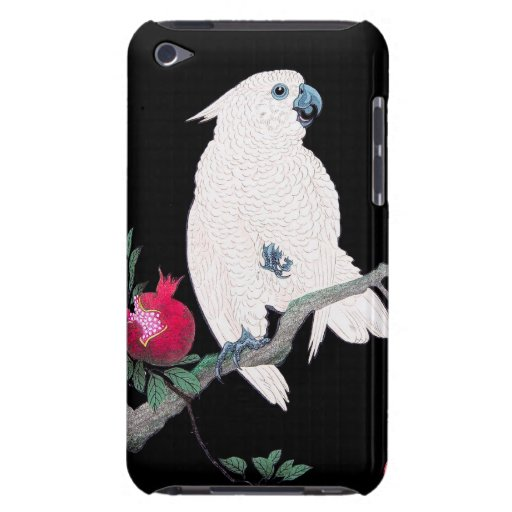 Pájaro tropical blanco japonés fresco del loro de  Case-Mate iPod touch carcasas