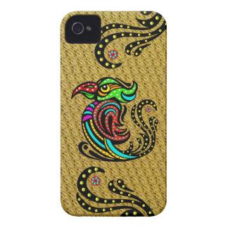 Pájaro tropical colorido - efecto moldeado Case-Mate iPhone 4 cárcasas