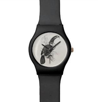 Pájaro tropical de Ariel Toucan del vintage - Relojes