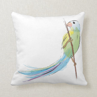 Pájaro tropical de la acuarela almohada