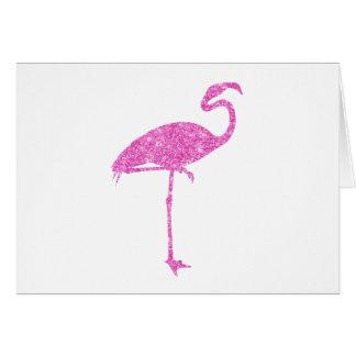 Pájaro tropical del flamenco de los falsos tarjeta pequeña