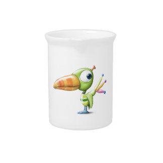Pájaro tropical jarras para bebida