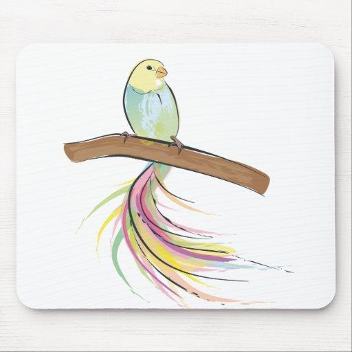 Pájaro tropical tapetes de raton