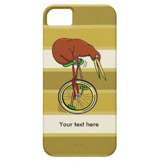 Pájaro Unicyling del kiwi del dibujo animado Funda Para iPhone SE/5/5s