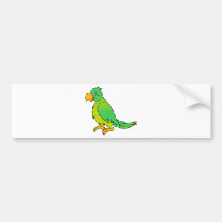 Pájaro verde colorido feliz del loro pegatina para auto