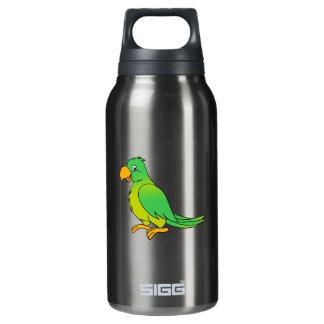 Pájaro verde colorido feliz del loro