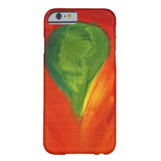 Pájaro verde con el amor que fluye alrededor de él funda de iPhone 6 slim