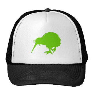 Pájaro verde del kiwi gorro