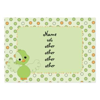 Pájaro verde dulce del alboroto tarjetas de visita grandes