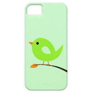 Pájaro verde en rama iPhone 5 funda