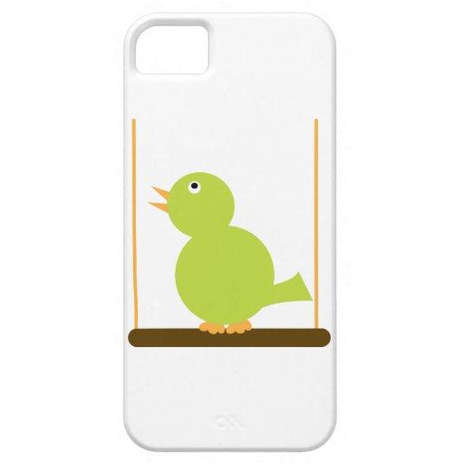 Pájaro verde en un caso de la perca iPhone 5 Case-Mate carcasas