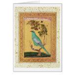 Pájaro verde, Mughal (aguazo en el papel) Felicitaciones