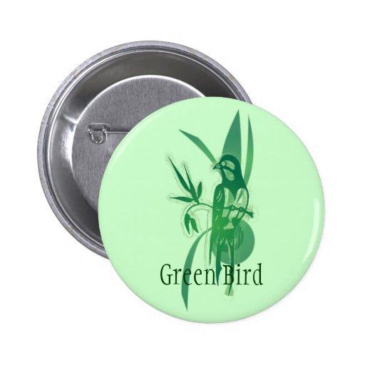 Pájaro verde pins