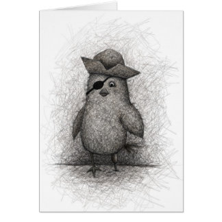 Pájaro viejo ladino tarjetón