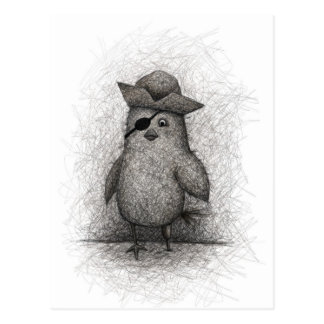 Pájaro viejo ladino tarjetas postales