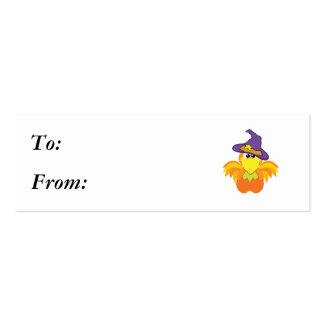 pájaro witchy del naranja de los goofkins tarjetas de visita mini